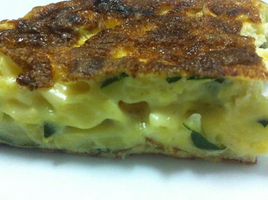 tortilla de calabacín y queso